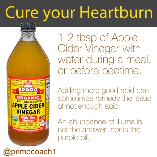 Apple Cider Vinegar For Heartburn. #primecoach #health #fitmoms with Does Apple Cider Vinegar Help Heartburn 47001