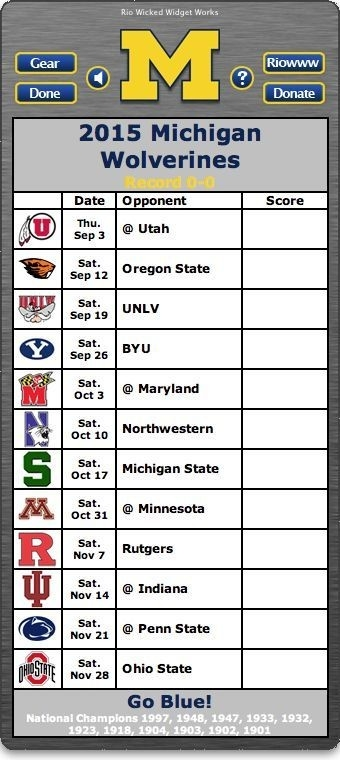 Back Of Widget - Free 2015 Michigan Wolverines Football Schedule throughout Michigan Football Schedule 2015 45704
