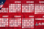 Washington Caps Schedule