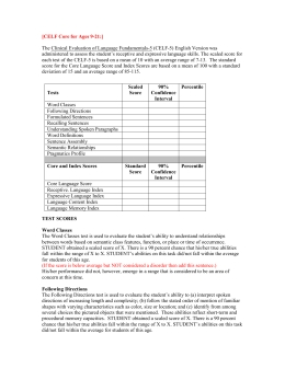 Celf 5 Ages 5 To 8 Template - Spring Branch Independent School throughout Celf 5 Sample Report 58335