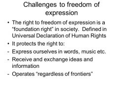 Challenges To Freedom Of Expression The Right To Freedom Of with regard to Freedom Of Expression Definition