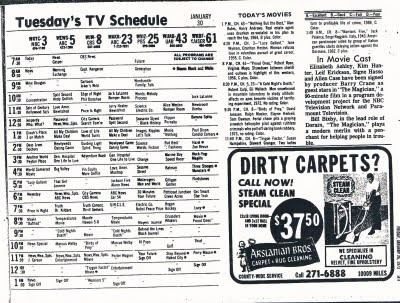 Cleveland Classic Media: Cleveland Tv January 1973Blooper Fun pertaining to Tv Listings Cleveland 37169