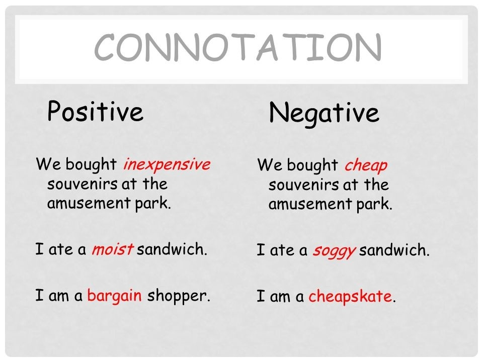 Connotation Examples - Definition & Types pertaining to Negative Connotation Examples 57786