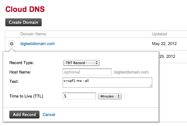 Create An Spf Txt Record inside Spf Record Example 56927