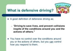 Defensive Driving Training. What's Difficult About Driving throughout Defensive Driving Definition