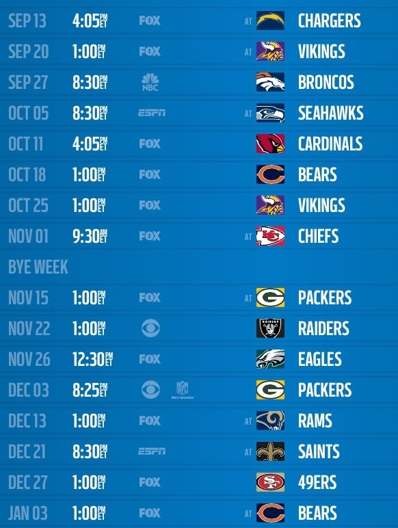 Detroit Lions 2015 Schedule Released: Dates And Times regarding Detroit Lions 2015 Schedule 47705