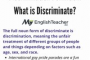 Definition Of Discriminate