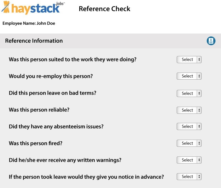 Employee Reference Check Free Tool in Sample Reference Check Questions 57243
