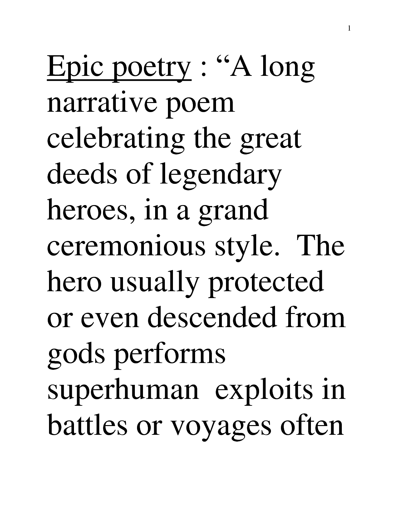 Epic Poem Definition And Example - Google Search | Poetry And Poetic inside Examples Of Epic Poems 57969