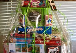 Family Game Night Raffle Basket | Room Mom And Pta | Pinterest intended for Gift Basket Raffle Ideas