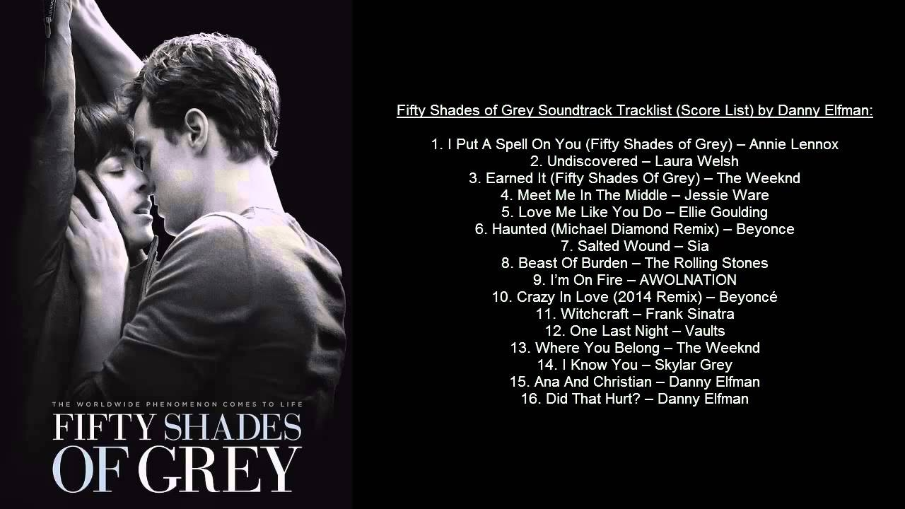 Fifty Shades Of Grey Soundtrack Tracklist (Ost) By Danny Elfman & Va throughout Fifty Shades Of Grey Song List 37458