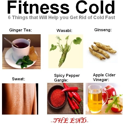 Fitness Cold – 6 Things That Will Help You Get Rid Of Cold Faster with regard to How To Help A Cold 46203
