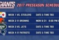 Giants Preseason Schedule