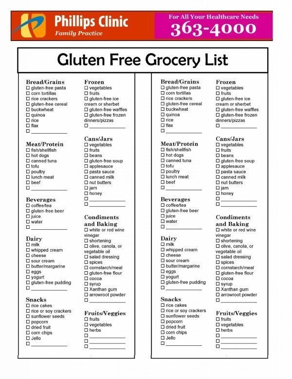 Gluten Free Grocery List #celiacdisease #gfliving | Celiac Resources in Gluten Free Grocery List 36645