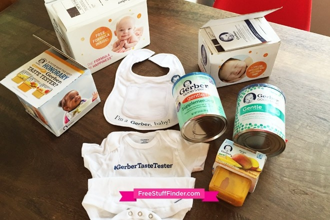 Hot* Free Stuff For Baby From Gerber (Formula, Baby Food, Bib, Onesie) with Gerber Free Samples 56815