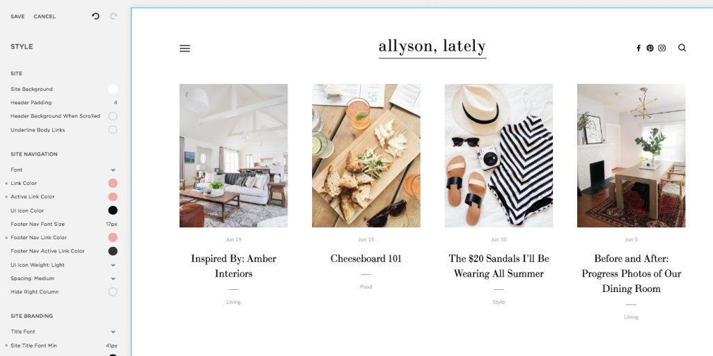 How To Build A Blog With Squarespace - The Everygirl within Squarespace Blog Examples 58659