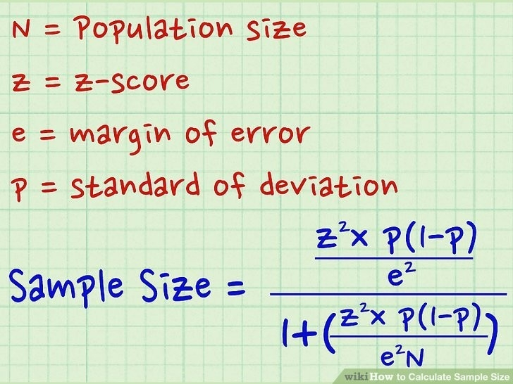 How To Calculate Sample Size: 14 Steps (With Pictures) - Wikihow in How To Calculate Sample Size 56650