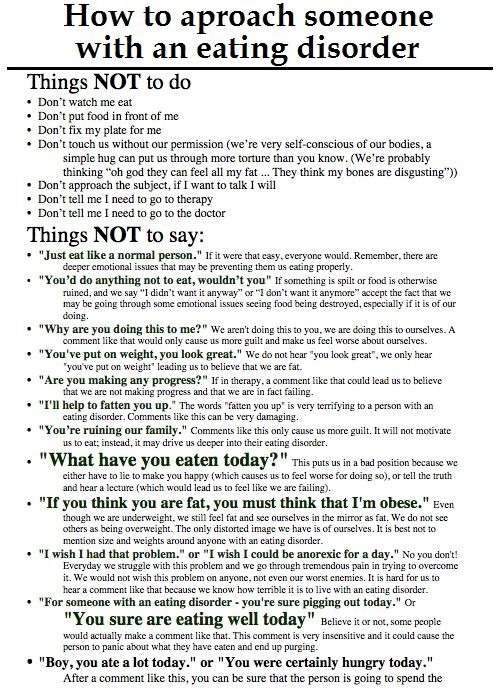 How To Help Someone With An Eatingdisorder | Kids | Pinterest with regard to How To Help Someone With Anorexia 48280