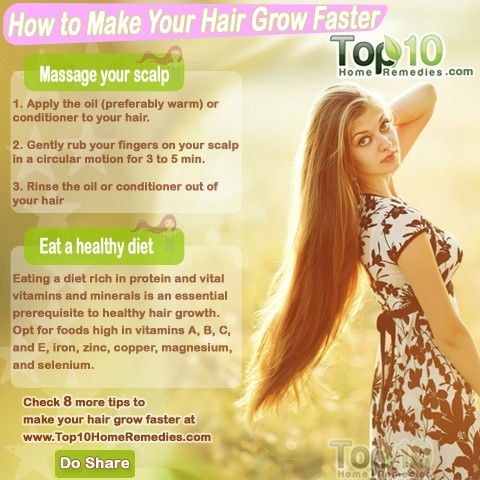 How To Make Your Hair Grow Faster | Top 10 Home Remedies pertaining to What Helps Your Hair Grow Faster 45822