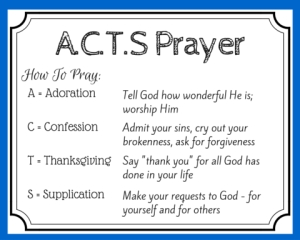 How To Pray With The Acts Prayer Method | All About Prayer pertaining to Acts Prayer Example 59268