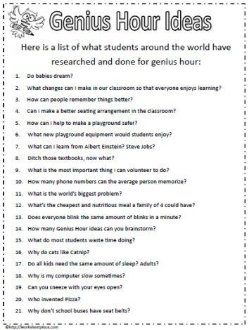 Ideas For Genius Hour | Teaching | Pinterest | Genius Hour, Genious for Genius Hour Ideas 37759