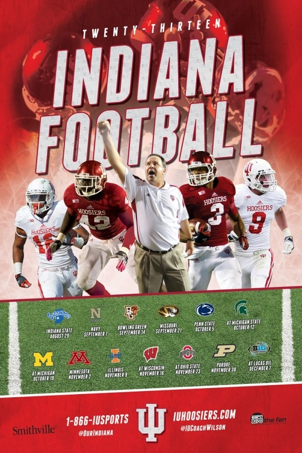 Indiana Football Schedule Calender. | Indiana Football | Pinterest pertaining to Iu Football Schedule 46500