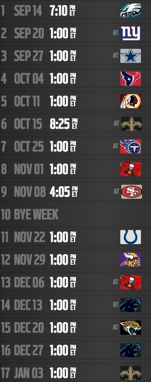 Inside The Falcons' 2015 Schedule - Nfl with Atlanta Falcons Schedule 2015 47040