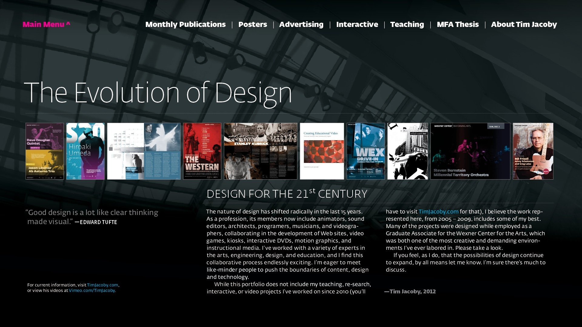 Interactive Pdf Portfolio | Tim Jacoby: Multimedia Designer And Educator pertaining to Interactive Pdf Examples 57957