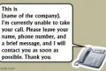Voicemail Greeting Ideas