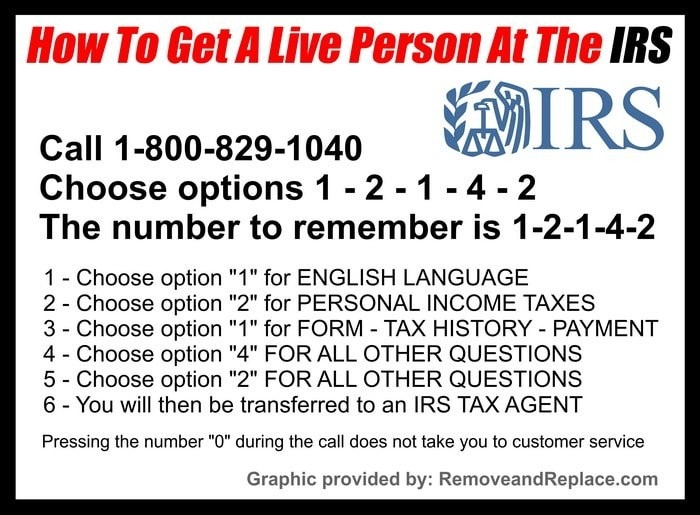 Irs 1800 Phone Numbers - How To Speak With A Live Irs Person Fast pertaining to Irs Help Number 48355