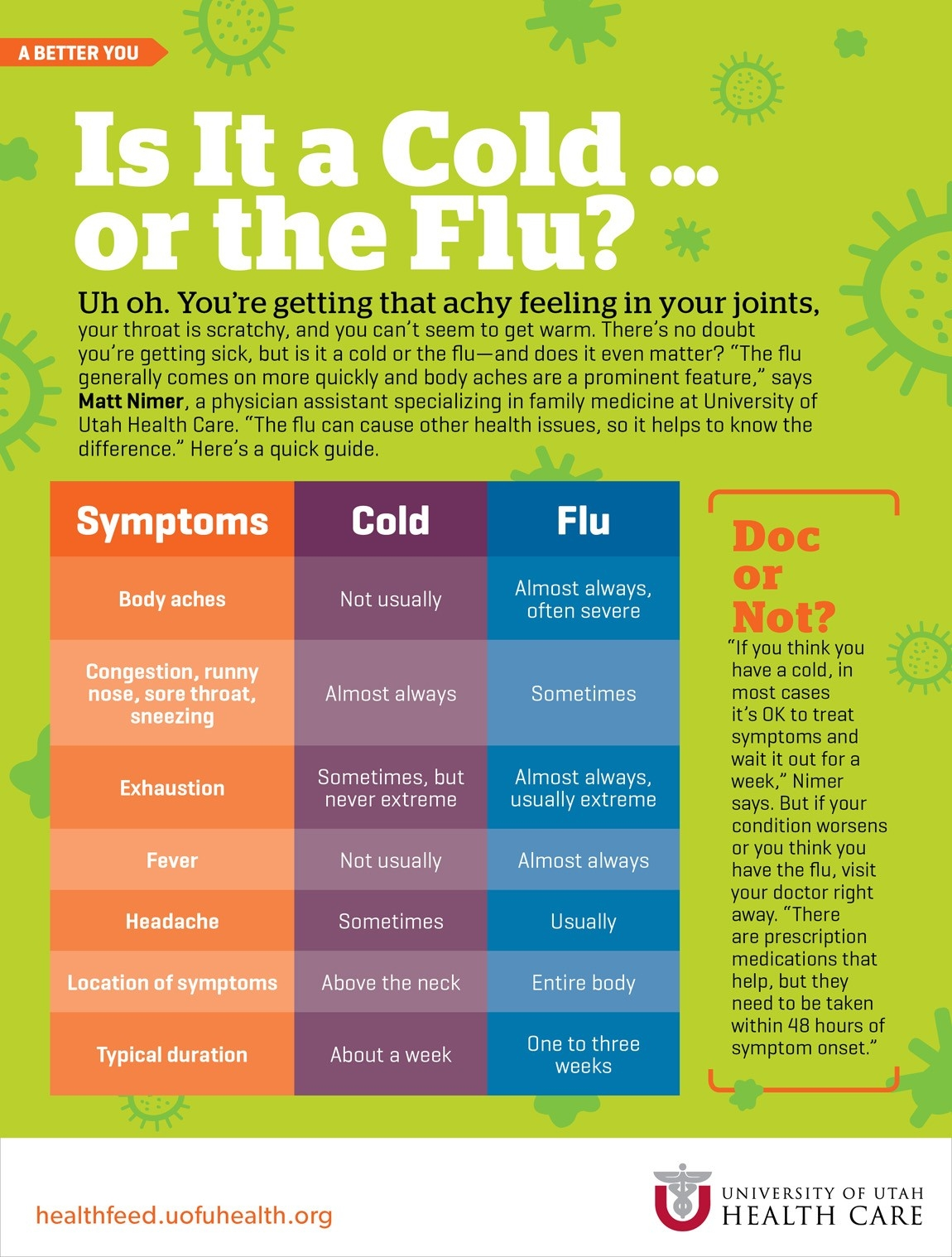 Is It A Cold … Or The Flu? | University Of Utah Health within What Helps With A Cold 46795