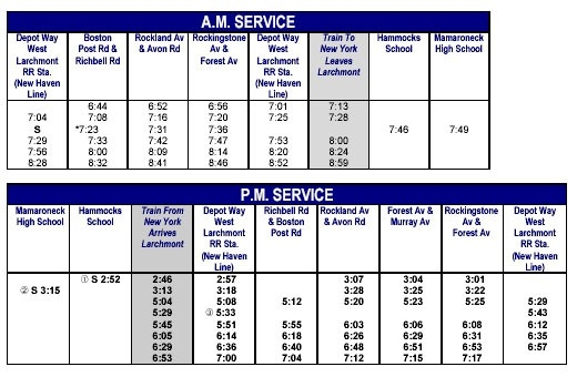 Larchmont Gazette: Westchester Bee-Line Bus throughout 70 Bus Schedule 47601