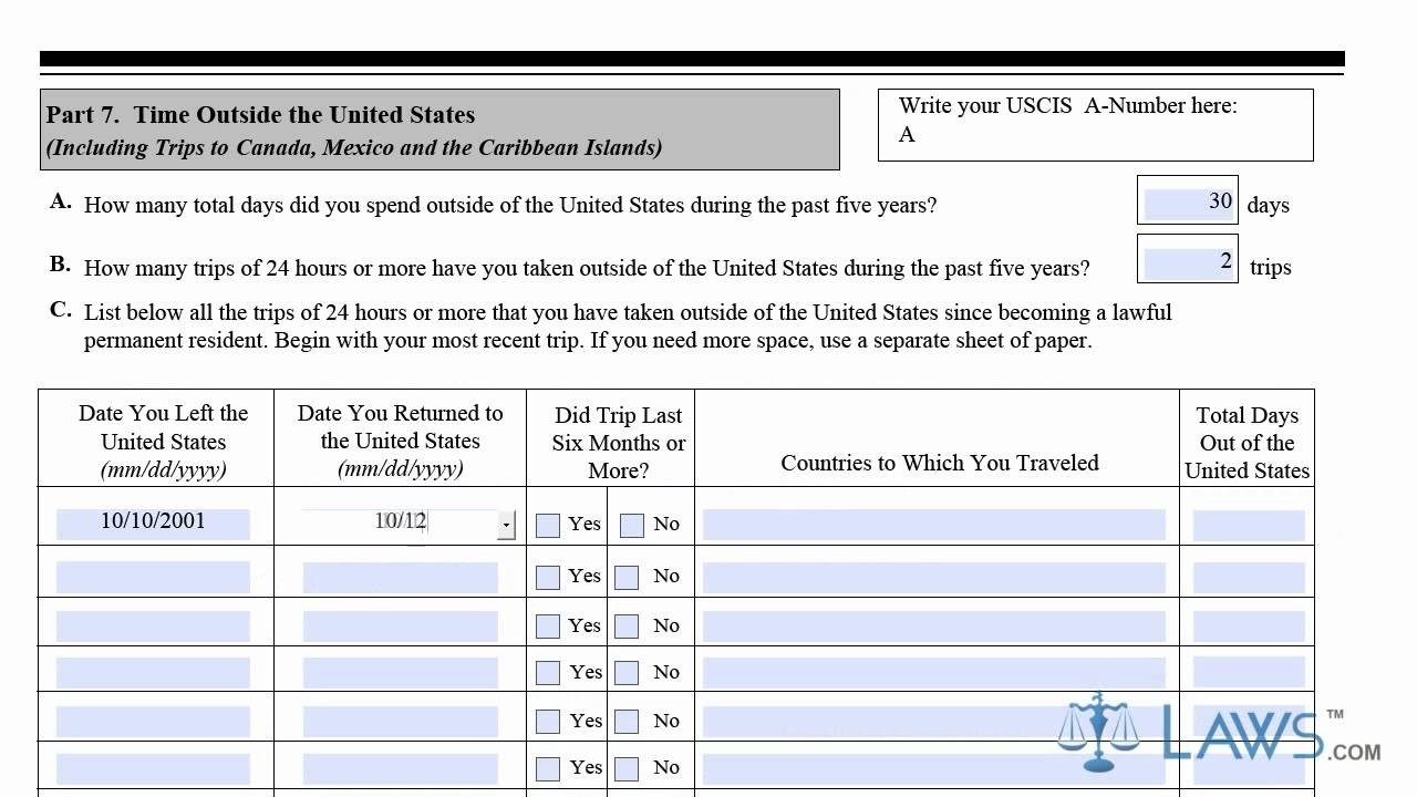Learn How To Fill The N-400 Form Application For Naturalization pertaining to N 400 Form Sample 57471