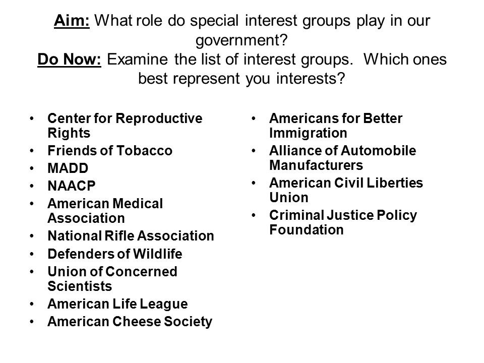 List Of Special Interests - Selom.digitalsite.co for Special Interest Groups List 36600