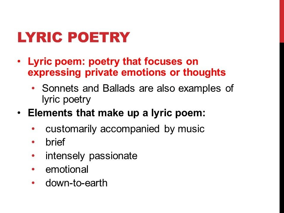 Lyric Poetry 12 Cp English Hack. Get Out Your Lyric Poem Example… If regarding Lyric Poem Examples 59040