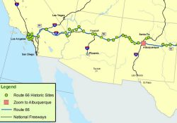 Maps Of Route 66: Plan Your Road Trip throughout Route 66 New Mexico Map