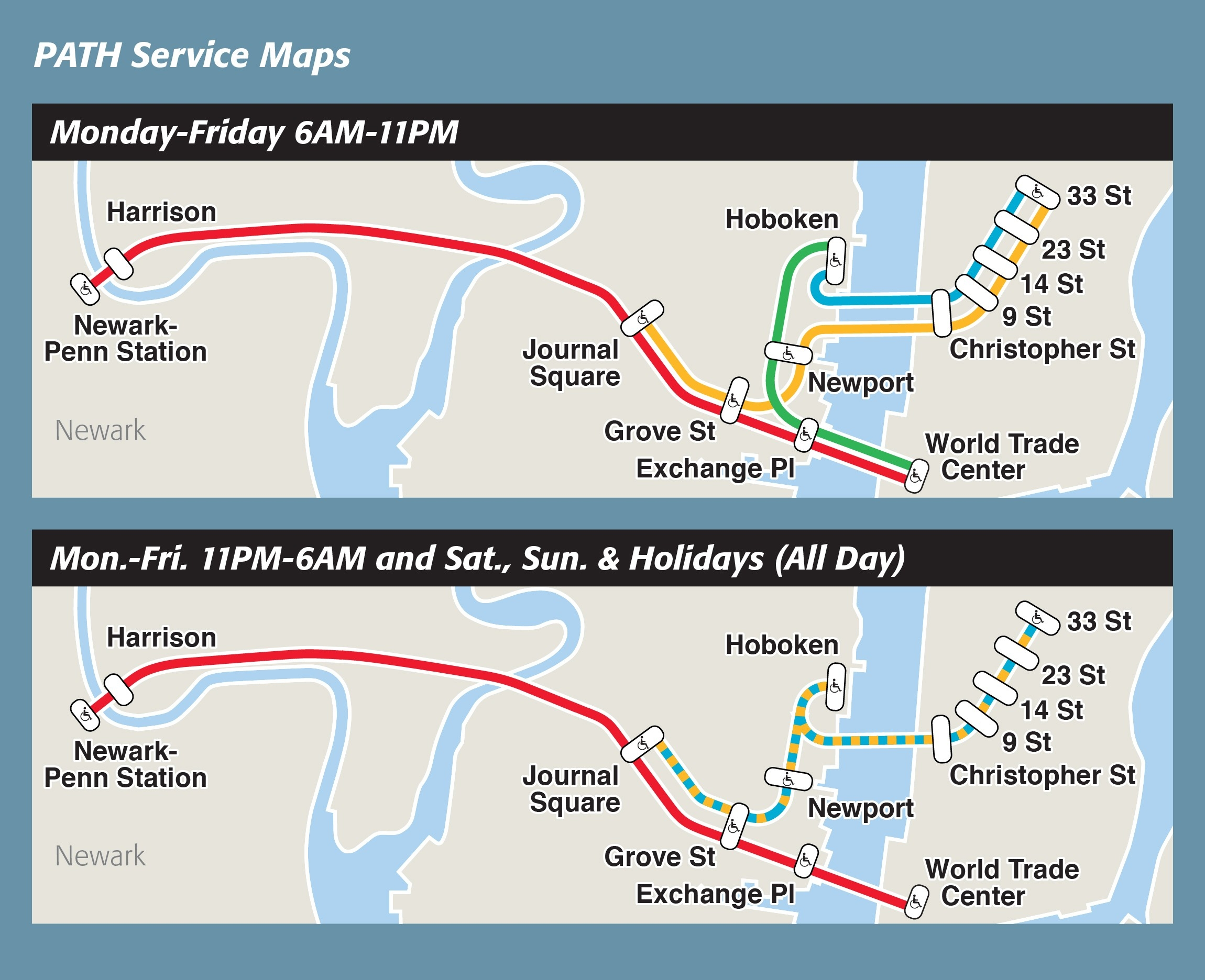 Maps & Schedule - Path - The Port Authority Of Ny & Nj intended for Path Train Schedule 47762