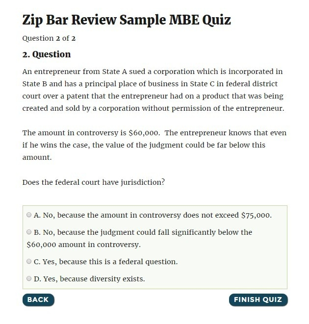 Mbe Bar Exam Tutoring | Zip Bar Review for Bar Exam Sample Questions 58872