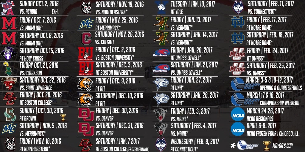 Men's Hockey Unveils 2016-17 Schedule - Providence College Athletics in Providence College Basketball Schedule 47019