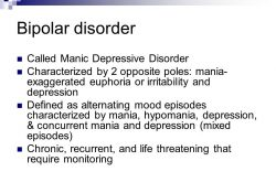 Mood Disorders: Bipolar - Ppt Download for Manic Depressive Definition