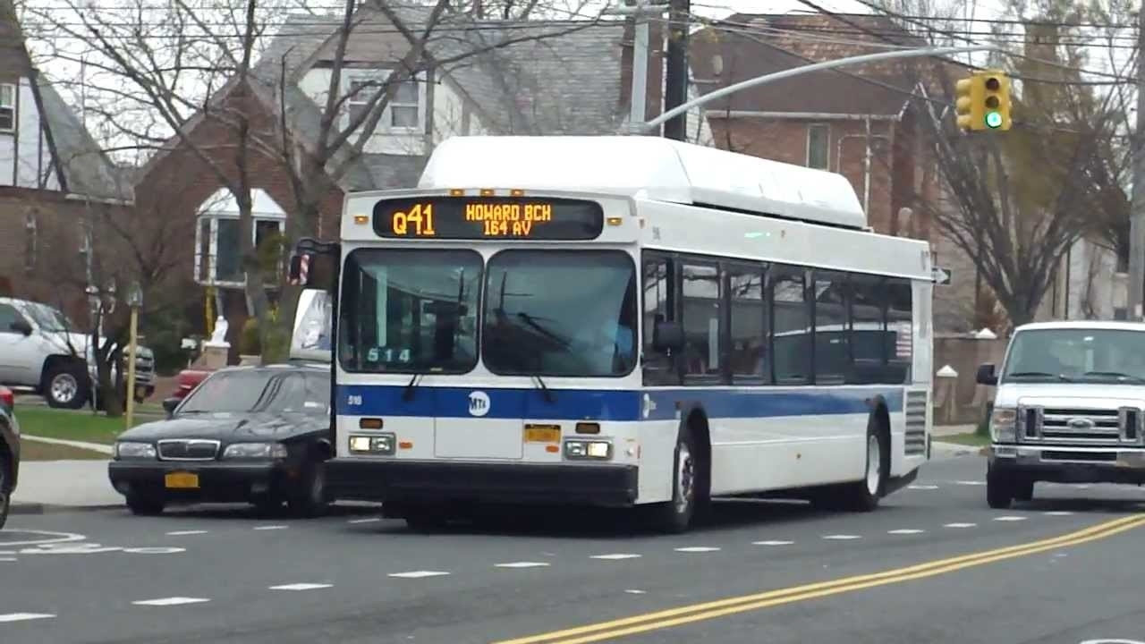 Mta Bus: 2012 New Flyer C40Lf Q41 Buses #516 #503 At 157Th Ave-Cross in Q41 Bus Schedule 46974