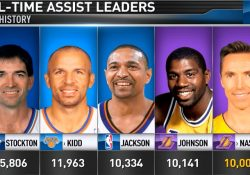 Nash Reaches 10,000 Assists : Nba with Nba All Time Assist List