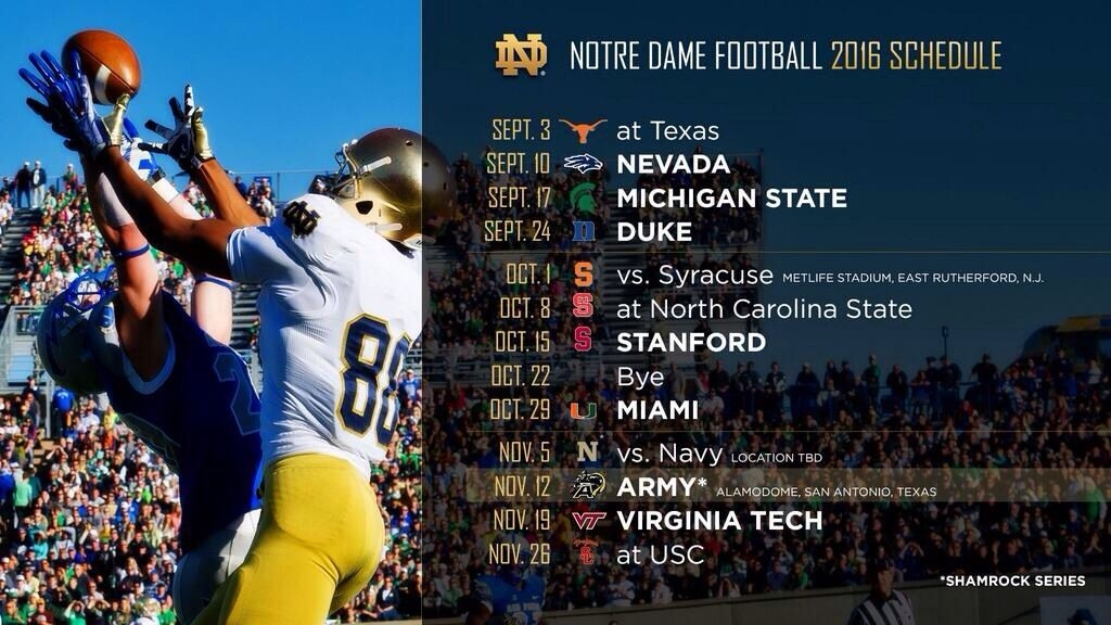 Nd Schedule 2016 | Football | Pinterest | Notre Dame Football, Notre pertaining to Notre Dame Football Schedule 2016 46843