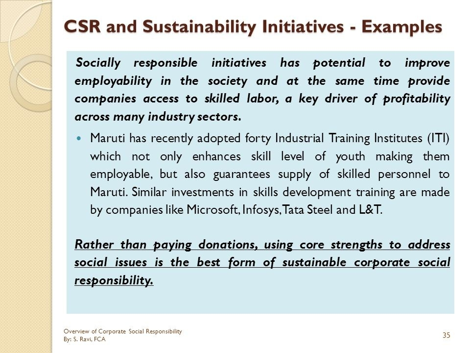 Overview Of Corporate Social Responsibility - Ppt Download with regard to Examples Of Corporate Social Responsibility 59277