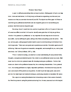 Personal Goals Paper - Hcs 301 with Examples Of Personal Goals 57116
