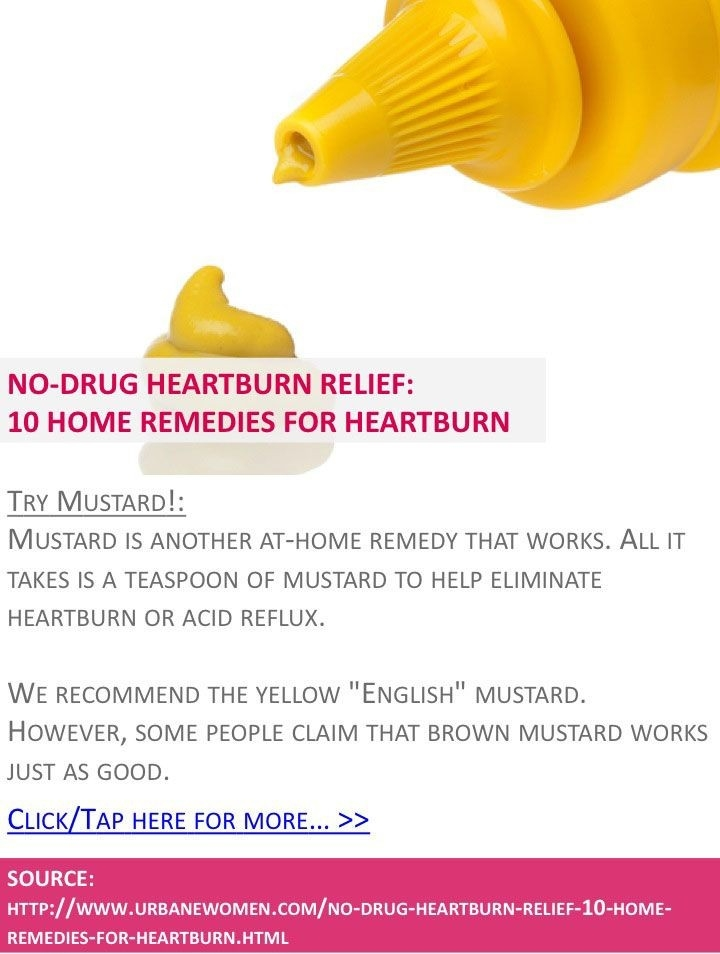 Pin By Lexa Thompson On Health | Pinterest | Home Remedies, Remedies with regard to Does Mustard Help Heartburn 45987