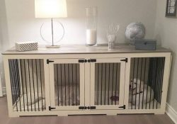 Pin By Lisa Gatz-Prohaska On Pets! In 2018   Pinterest   Dog Houses intended for Indoor Kennel Ideas