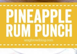 Pineapple Rum Punch | A Night Owl Blog inside Mixed Drink Ideas