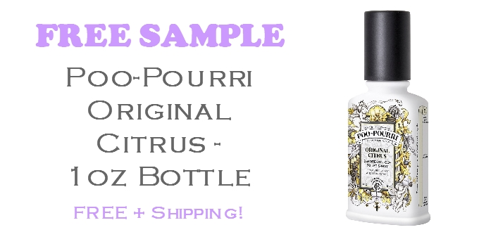 Poopourri Free Sample 1Oz Bottle + Shipping | Freebie Bin pertaining to Poo Pourri Free Sample 58416