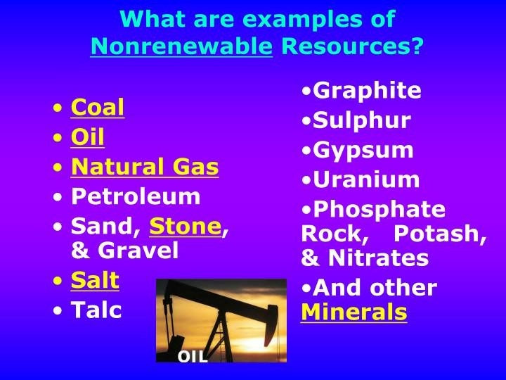 Ppt - Natural Resources Powerpoint Presentation - Id:5647901 inside Examples Of Nonrenewable Resources 58887